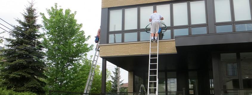 Lavage vitres commercial